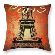 Paris In The Fall  Throw Pillow
