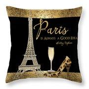 Paris Is Always A Good Idea - Audrey Hepburn Throw Pillow