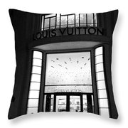 Paris Louis Vuitton Boutique - Louis Vuitton Paris Black And White Art Deco Throw Pillow