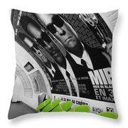 Paris Metro 4 Throw Pillow