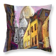 Paris Montmartre 2 Throw Pillow by Yuriy  Shevchuk