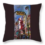 Paris Mulen Rouge Throw Pillow