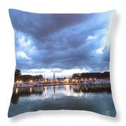 Paris Night Sky Throw Pillow by Milan Mirkovic