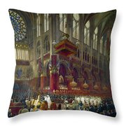 Paris: Notre Dame, 1841 Throw Pillow
