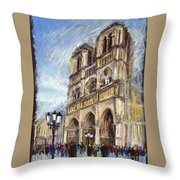 Paris Notre-dame De Paris Throw Pillow