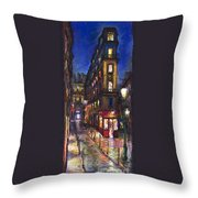 Paris Old Street Throw Pillow