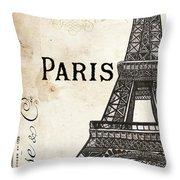 Paris, Ooh La La 1 Throw Pillow