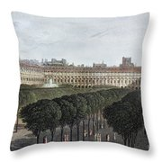 Paris: Palais Royal, 1821 Throw Pillow