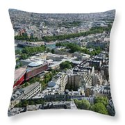 Paris Panorama From The Eiffel Tower Throw Pillow