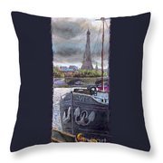 Paris Pont Alexandre IIi Throw Pillow