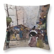 Paris Porte Saint Denis Throw Pillow