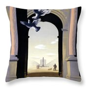 Paris Poster Throw Pillow