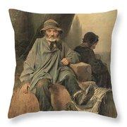 Paris Ragman Throw Pillow