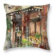 Paris Restaurant 5 - By Diana Van Throw Pillow
