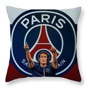 Paris Saint Germain Painting Throw Pillow
