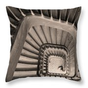 Paris Staircase - Sepia Throw Pillow