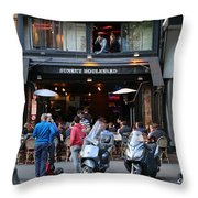 Paris Street Life 4 Throw Pillow