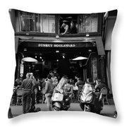 Paris Street Life 4b Throw Pillow