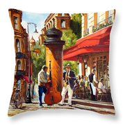 Paris, Street Musicians Throw Pillow