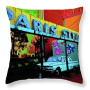 Paris Style Throw Pillow