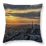 Paris Sunset Throw Pillow