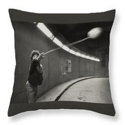 Paris Underground Yoyo Throw Pillow