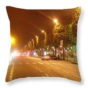 Paris Unedited Throw Pillow
