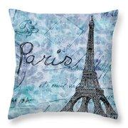 Paris - V01t01a Throw Pillow