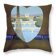Paris Venice Railway, Orient Express Throw Pillow