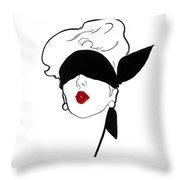 Paris Vintage Fashion Throw Pillow