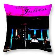 Parisian Bistrot Throw Pillow