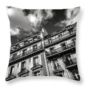 Parisian Buildings Throw Pillow