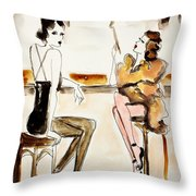 Parisian Cabaret Throw Pillow