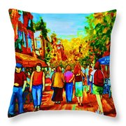 Parisian Cafes Throw Pillow