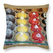 Parisian Pastries Throw Pillow