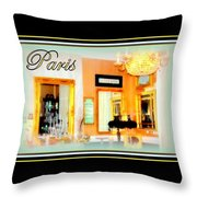 Parisian Salon Throw Pillow
