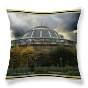 Parisian Spaceship Throw Pillow