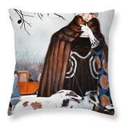 Parisian Style, 1921 Throw Pillow