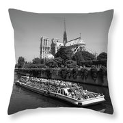 Paris,notre Dame  Throw Pillow