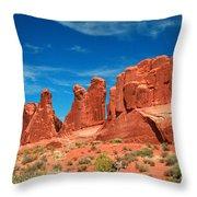 Park Avenue, Arches National Park Throw Pillow