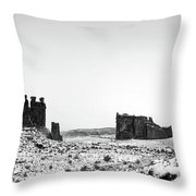 Park Avenue At First Light - Arches National Park Throw Pillow