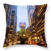 Park Avenue Nyc Throw Pillow