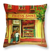 Park Avenue Shoe Store Throw Pillow