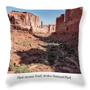 Park Avenue Trail, Arches National Park, Moab, Utah Throw Pillow