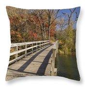 Park Bridge Autumn 2 Throw Pillow