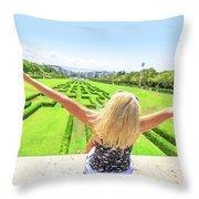 Park Eduardo Vii Lisbon Throw Pillow