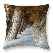 Park Guell Throw Pillow
