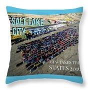 Park / Salt Lake City Rise/shine 1 W/text Throw Pillow