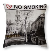 Park Street Station Sign Throw Pillow