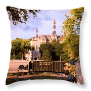 Park University Throw Pillow by Steve Karol